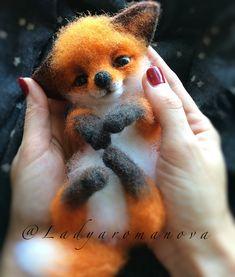 Needle Felted Animals, Felt Animals, Animals And Pets, Funny Animals, Needle Felting, Cute Fox, Jolie Photo, Cute Little Animals, Cute Animal Pictures