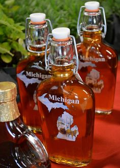 Maple syrup locally made in Michigan.  I also love the cherry maple syrup that you can get in Traverse City!
