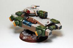 Heavy Gear Blitz - Humanist Alliance Hetairoi hovertank  w/HPLC a015 by Steel Paladin, via Flickr