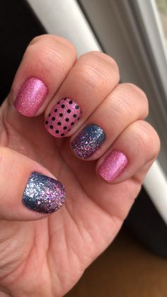 geeking out color street nails Czech Me Out, Moon River, Mt Crushmore and Polka Dot Com Fancy Nails, Diy Nails, Pretty Nails, Nails For Kids, Girls Nails, Kids Manicure, Manicure Tips, Nail Polish Strips, Nail Polish Colors