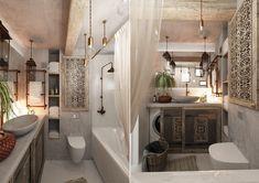 Дизайн интерьера ванной комнаты в этническом стиле