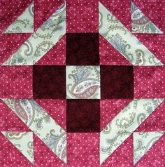 Christmas Star Quilt Block and the Setting of The Christmas Quilt by Jennifer Chiaverini