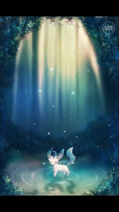 The Light From The Forest is Shining to show a Special Peacefulness to all Pokemon and Trainers alike