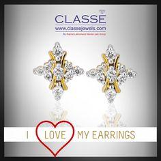 Gleam Earring: #Classe  #diamond #jewelry #gold #earring #lovelife Gold Diamond Earrings, Diamond Jewelry, Jewels, Collection, Diamond Jewellery, Jewerly, Gemstones, Fine Jewelry, Gem