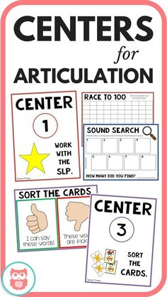 Use centers in speech and language therapy in your articulation groups! From Speechy Musings.