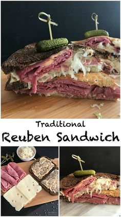 Reuben Sandwich - An Affair from the Heart --A pile of corned beef, slices of Swiss cheese, Frank's Kraut and Thousand Island dressing grilled between two slices of your favorite rye bread until the cheese is perfect and melty.  What more could anyone really ask for in a sandwich? It's the whole package.  #ad @FranksKraut #ReubenSandwich #BlackStoneHotel #OriginalReuben