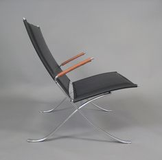 FK82 X-Chair by Fabricius & Kastholm | From a unique collection of antique and modern lounge chairs at http://www.1stdibs.com/furniture/seating/lounge-chairs/