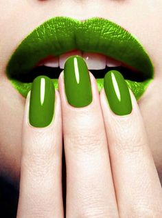 Green - Pretty perfect nail shape! Just more length