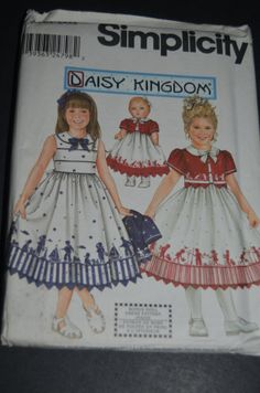 Simplicity 9640 Daisy Kingdom  Child's Dress by DestinedRendezvous, $6.50