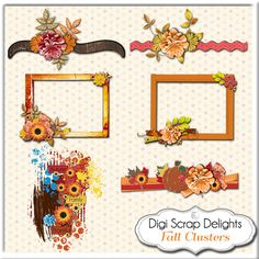 50% OFF TODAY Fall Scrapbook Kit Bundle by DigiScrapDelights  #fall #autumn #halloween #thanksgiving #scrapbooking #memories #craft #digiscrapdelights #clipart