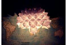 Origami Light by a thousand paper cranes