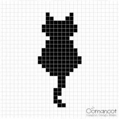 ideas crochet cat pillow pattern tutorials for 2019 Cat Cross Stitches, Cross Stitch Bookmarks, Crochet Bookmarks, Cross Stitching, Cross Stitch Embroidery, Cross Stitch Skull, Handmade Bookmarks, Cross Stitch Pillow, Small Cross Stitch