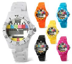 Prince NY London TV Test Card Plastic Toy Style Watch Mens Ladies Unisex