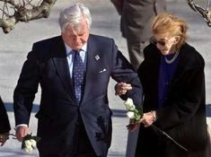 Senator Ted Kennedy, leads his sister Pat Kennedy Lawford to the grave of their brother President John F. Kennedy at Arlington National Cemetery November 20, 2001.