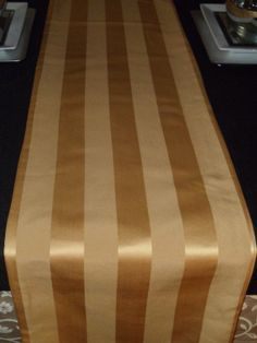 Reversible Shimmery Gold Strip Table Runner By DorethaRoseDesigns, $35.00. Elegant  TableTable Runners