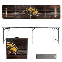 From tailgates to camping, your family and friends will gather around the Southern Miss folding table.