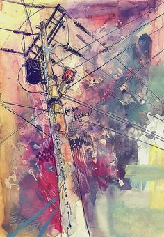 awesome illustration of electricity. Art Aquarelle, Art Watercolor, Art Shed, Inspiration Art, Ap Art, Henri Matisse, Amazing Art, Awesome, Art Lessons