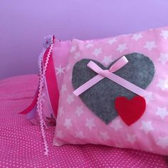 Pillow double heart with stars - handmade factory Handmade Pillows, Coin Purse, Purses, Wallet, Stars, Handbags, Sterne, Purse, Bags