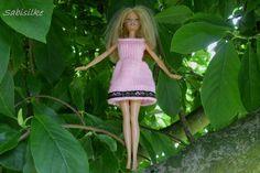 Puppenkleidung - Kleid mit Borte ** für Barbie ** rosa - ein Designerstück von…