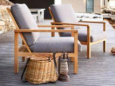 Eco Outdoor Burleigh easy chairs in Outdoor Linen. Outdoor furniture | Patio furniture | Outdoor dining | Teak outdoor | Outdoor design | Outdoor style | Outdoor luxury | Designer outdoor furniture | Outdoor design inspiration | Pool side furniture | Outdoor ideas | Luxury homes | Linen
