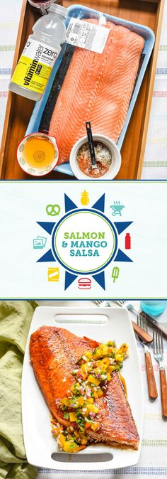 Check out this recipe for Foil-Grilled Member's Mark Salmon with Homemade Mango Salsa for a flavorful dish you won't be able to wait to serve this summer! And when you pair it with vitaminwater zero®, you've got a refreshing menu that your friends and family will love. To make your life a little easier during outdoor entertaining season, pick up all the fresh party and dinner ingredients you'll need at Sam's Club.