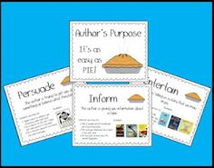 My author's purpose posters :)