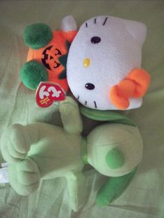 Ty Hello Kitty Halloween NWT/Green Snoopy Plush New #Ty