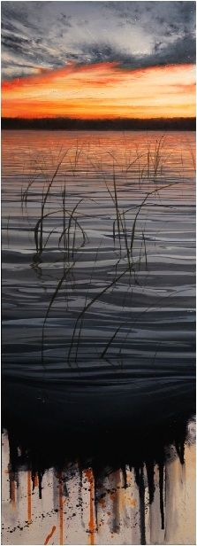 splendid, oil on canvas ~ love the bottom of it, enhances our awareness of how amazing the manipulation of paint can be