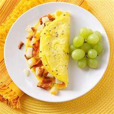 Potato Bacon Omelet Recipe