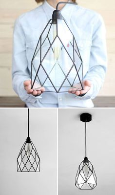 Lamps and Lighting– Home Decor : This geometric black glass pendant light is modern and unique. Lamps and Lighting – Home Decor : This geometric black glass pendant light is modern and unique. Stained Glass Pendant Light, Black Pendant Light, Stained Glass Lamps, Stained Glass Patterns, Glass Pendants, Geometric Pendant Light, Luminaria Diy, Hanging Light Fixtures, Hanging Lamps
