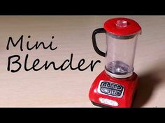 Simple Miniature Blender - Polymer Clay Tutorial - YouTube