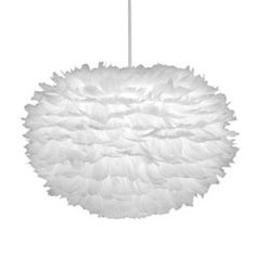 Aurora feather pendant shades in white interior decor pinterest vita eos pendant shade aloadofball Images