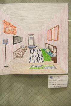 Virginia Heinls ART Blog One Point Perspective Interior Design