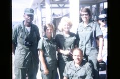 Nurses of the Evac Da Nang. Where I got worked on a few times. Air Force Nurse, Brown Water Navy, Medical Photos, Da Nang, Red Cross, Vietnam War, Usmc, Nurses, Military