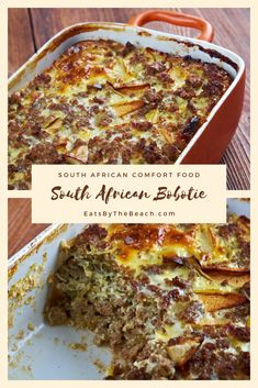 South African Desserts, South African Dishes, South African Recipes, West African Food, Ethnic Recipes, Bobotie Recipe South Africa, Dutch Oven Recipes, Ground Beef Recipes, Beef Curry