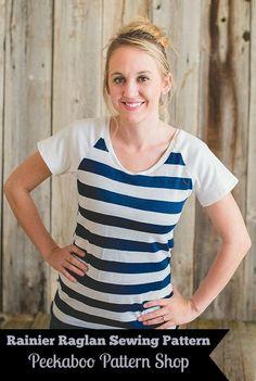 Rainier Raglan Sewing Pattern for Women| Peek-a-Boo Pattern Shop