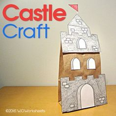 Castle Craft - Paper Bag Student have fun creating this castle to go along with a Castle Themed Unit or fairy tale. Use for an art center activity or during indoor recess. Design your own castle using pattern. Brown paper lunch bags are needed for