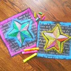 Going to #naea16 and need sub plans? Check out my blog for this lesson with video! Feel free to share with your art stars! #everybodyisastar #slyandthefamilystone #teachershelpingteachers #imateachercanyoutell #imateacher #imateachertoo #k12artroom #kosschalk #sharpie #elementaryart #artteacherweekends #artlesson #primaryart