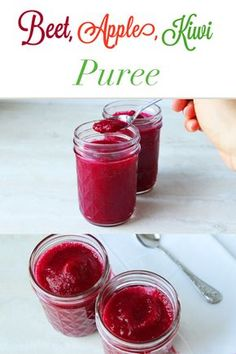 Tasty and nutritious homemade baby puree. Make this Beet, Apple, Kiwi Puree for … Tasty and nutritious homemade baby puree. Baby Puree Recipes, Pureed Food Recipes, Baby Food Recipes, Gourmet Recipes, Healthy Recipes, Baby Food Puree, Juicer Recipes, Kiwi, Toddler Meals