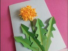 DIY. Blumenkarte mit Löwenzahn. Bastelidee zum Muttertag, Vatertag oder Geburtstag - YouTube