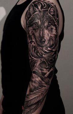 #Tattoo #wolftattoo #sleevetattoo