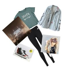 Concert Ready by emilyannslash on Polyvore featuring polyvore, fashion, style, NIKE, EASEL, clothing and rocknroll