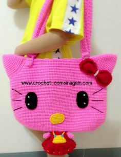 Pat Phase shoulder bag big kitty - www.crochet-oomsinagain.com: Inspired by LnwShop.com.