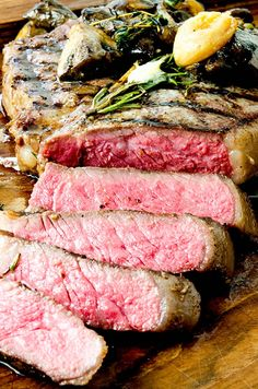 The perfect porterhouse steak recipe with brown butter, herbs and grilled hot