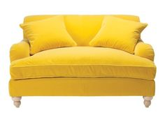 Yellow Velvet Oversized Chair