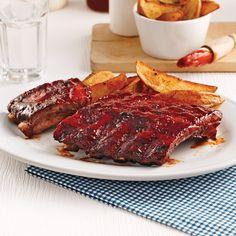 Côtes levées à l'érable pour mijoteuse - 5 ingredients 15 minutes Pork Recipes, Slow Cooker Recipes, Healthy Recipes, Confort Food, Crockpot, Bacon, Food And Drink, Yummy Food, Favorite Recipes