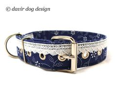 Dyed blue lace decorated adjustable dog collar with metal buckle Luxury Dog Collars, Pet Collars, Cute Dog Harness, How To Dye Fabric, Diy Stuffed Animals, Treat Bags, Metal Buckles, Dog Accessories, Dog Design