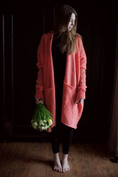 Valentine's pink cardigan sweater #2017 #Sweater #spring #brown #grey #gray #fashion #wool #alpaca #organic # natural #manufacture #slowfashion #slow #fashion #merino #knitted #knit #clothes #vneck #wiw #ootd #outfit #cardigan #pullover #cardigan #fluffy #pink