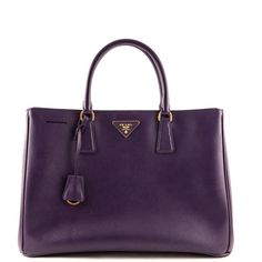 Prada Uva Saffiano Lux Large Open Tote ❤ liked on Polyvore featuring bags, handbags, tote bags, prada tote bag, purple purse, handbags totes, prada handbags and tote hand bags