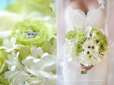 Green and white bouquet by Avant Gardens Miami